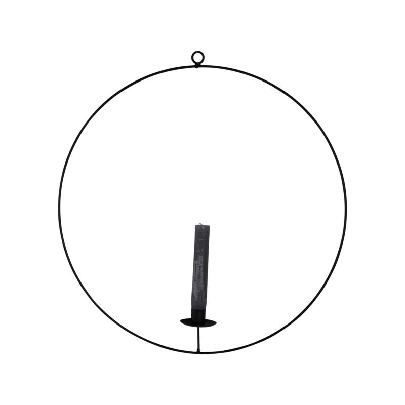 Kaarsenstandaard ring - zwart