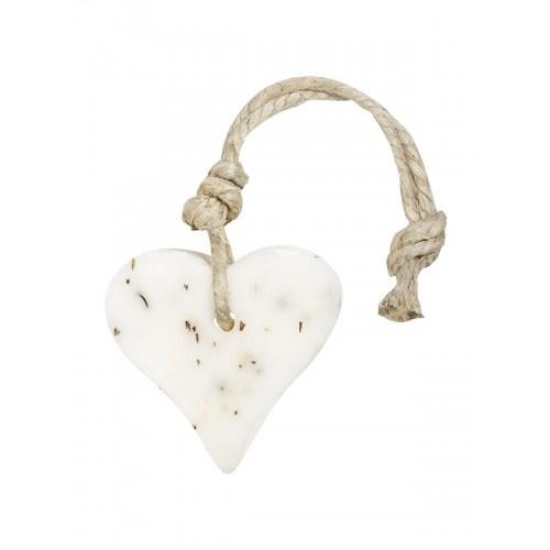 Mijn Stijl zeephanger hart rozemarijn s - wit