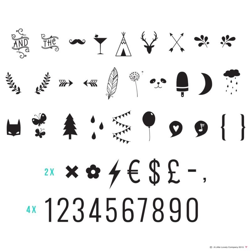 A Little Lovely Company symbolenset - cijfers