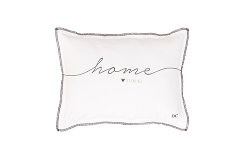 Bastion Collections kussen home stories - wit