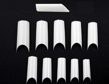 c curve french white tips 500 stuks