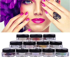 chrome pigment set 12 kleuren