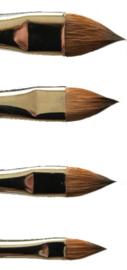 acryl penseel nr. 6 - 8 -10 en 12 hoogwaardige kwaliteit