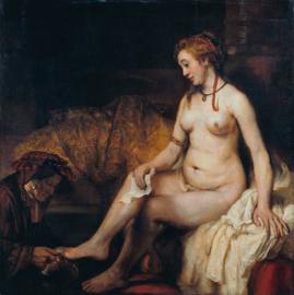 Rembrandt, Bahthseba bij haar bad