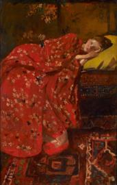 Breitner, Meisje in rode kimono (Geesje Kwak)