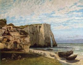 Courbet, De klif van Etretat na de storm