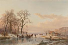 Schelfhout, Een bevroren vaart bij de Maas