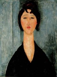 Modigliani, Portret van een jongedame