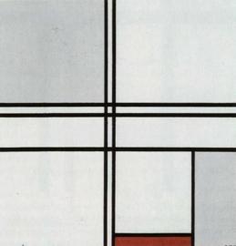 Mondriaan, Compositie met rood en grijs
