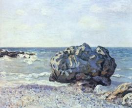 Sisley, Baai van Langland met rotsen