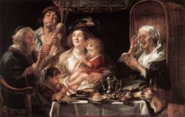 Jordaens, Zoals de ouden zongen piepen de jongen