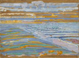 Mondriaan, Gezicht op strand en pier vanaf de duinen, Domburg