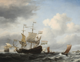 Van de Velde, Een Hollands vlaggenschip dat voor anker gaat