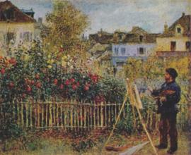 Renoir, Monet schilderend in zijn tuin
