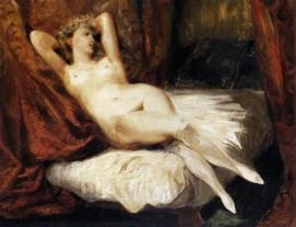 Delacroix, Vrouwelijk naakt liggend op een divan