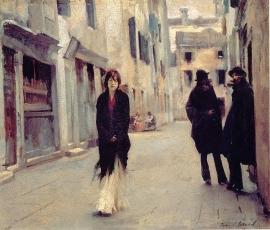 Sargent, Straat in Venetië