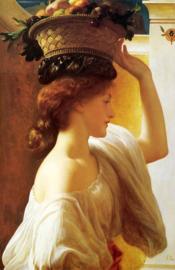 Leighton, Meisje met een fruitmand