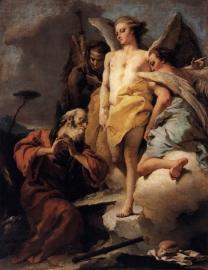 Tiepolo, Abraham en de drie engelen