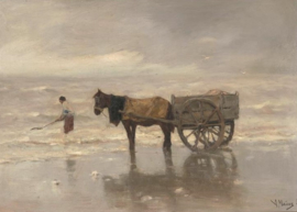 Mauve, Paardenkar op het strand