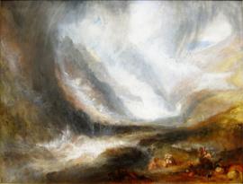 Turner, Storm in de vallei van Aosta