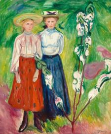 Munch, Twee meisjes bij een appelboom