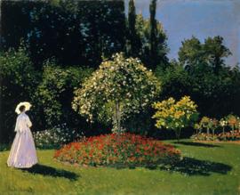 Monet, Vrouw in de tuin