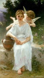 Bouguereau, Gefluister van de liefde
