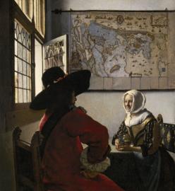 Vermeer, Soldaat en lachend meisje