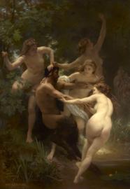 Bouguereau, Nimfen en een sater