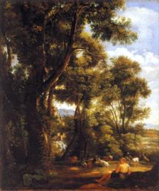 Constable, Landschap met herder en geiten