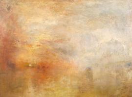 Turner, Zonsondergang boven een meer