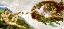 Michelangelo, De schepping van Adam
