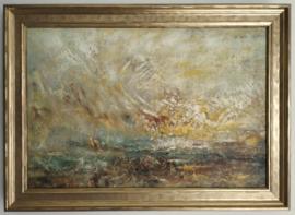 Turner, Wolken en water, ingelijst