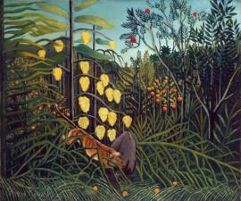 Rousseau, Strijd tussen een tijger en buffel