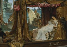 Alma-Tadema, De ontmoeting van Cleopatra en Antonius