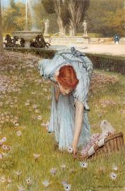 Alma-Tadema, Lente in de tuinen van Villa Borghese (Flora)