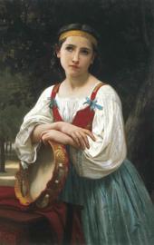 Bouguereau, Zigeunermeisje met tamboerijn