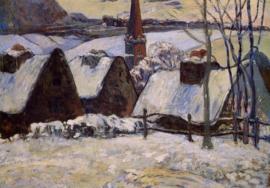 Gauguin, Bretons dorp in de sneeuw
