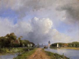 Jongkind, Gezicht op de Vliet bij Delft