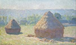 Monet, Hooibergen aan het eind van de zomer