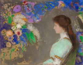 Redon, Portret van Violette Heymann