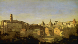 Corot, Rome, het Forum en de Farnese-tuin
