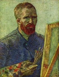Van Gogh, Zelfportret met schildersezel
