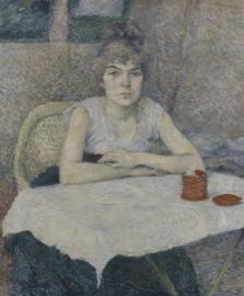 Toulouse-Lautrec, Een jonge vrouw aan tafel