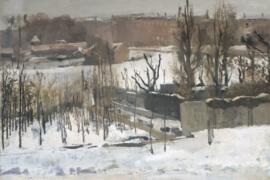 Breitner, Het Oosterpark in Amsterdam in de sneeuw