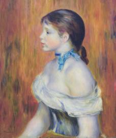 Renoir, Jong meisje met een blauw lint