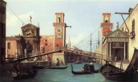 Canaletto, Gezicht op de ingang van de Arsenal