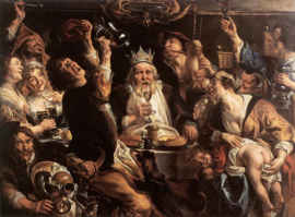 Jordaens, De koning drinkt
