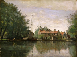 Corot, Gezicht in Holland