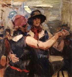 I. Israëls, Dansende vrouwen in een Haags cafe